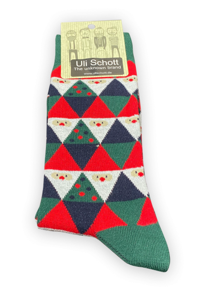 Christmas Socke - Rauten