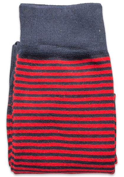 Tinchi Strumpf Ringel Blau Rot