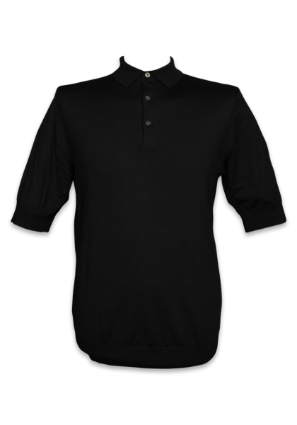 Molde Strick-Polo 1/2 Black