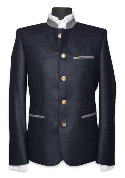Bavarian Jacket Navy Melange