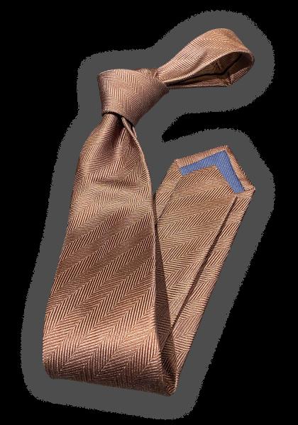 GAGNEF Brown Fischgrat Krawatte