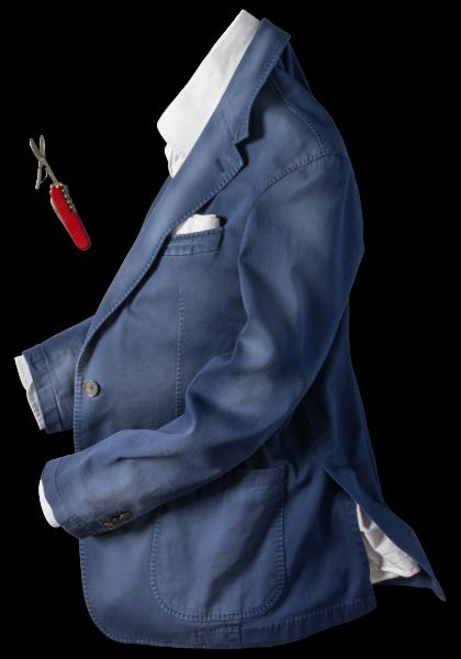 Turin Anzug-Sakko Navy Vegan
