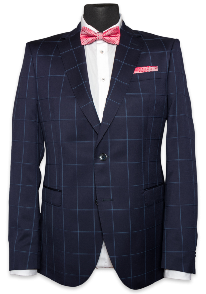 Kalmar Anzug-Jacket Big Check Blue