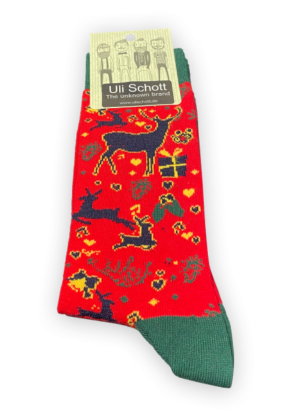 Christmas Socke - bunt gemustert