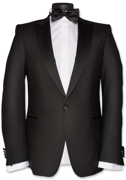 Cannes Smoking-Jacket Spitzfasson Black