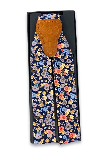 Morino navy Blumen Hosenträger