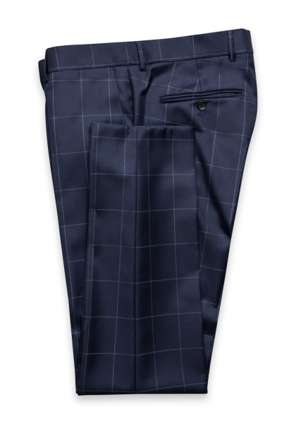 Cambridge Check Anzug-Hose Dark Navy