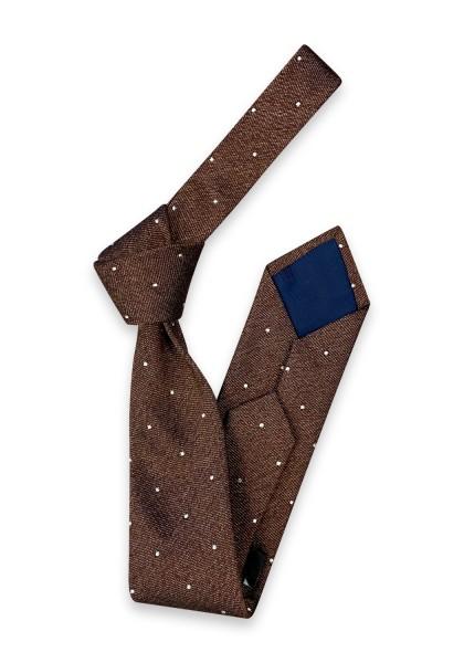 KÖPING Punkte Brown Krawatte