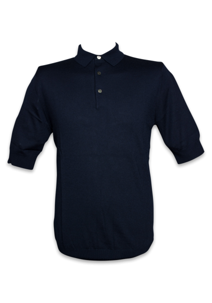 Molde Strick-Polo 1/2 Navy