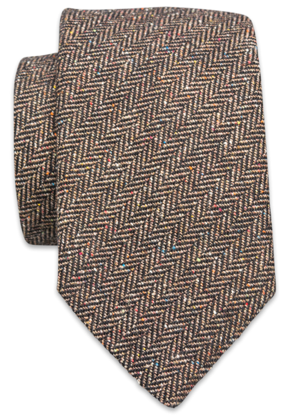 Genua Krawatte Dunkelbraun