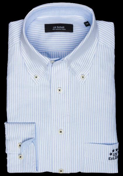 Soccer Shirt Blau Streifen