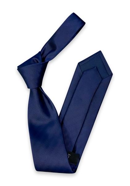 Bella Krawatte Navy uni Fischgrat