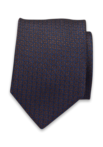 Modica Krawatte Braun/Blau