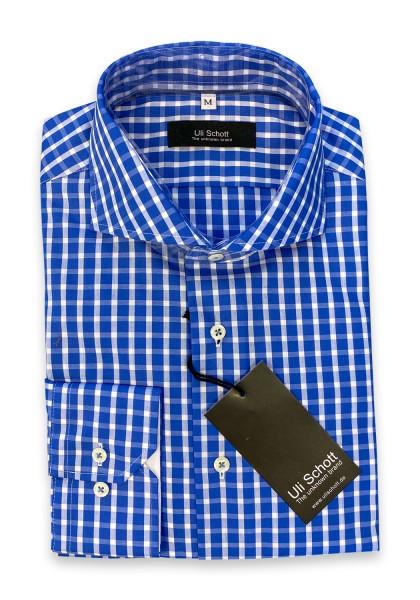 Fontura mid blue/white check