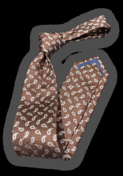 KOVLAND Brown Paisley Krawatte