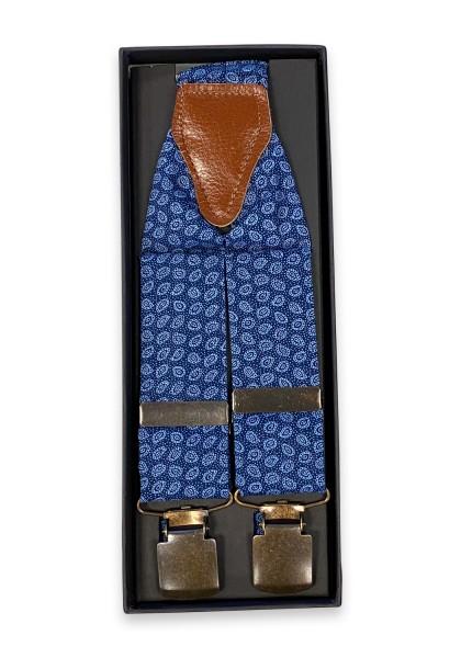 Livata blau Paisley Hosenträger