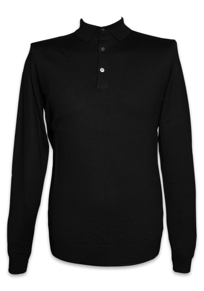 Bergen Strick-Polo Black