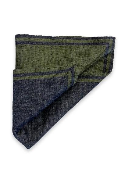 Alessano Einstecktuch Grau/Grün